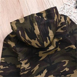 camouflage clothes for baby boys UK - 0-24M Kids Clothes Newborn Long Sleeve Hooded Jacket Baby Boys Outwear Tracksuit Hoodies For Baby Girls Clothes Camouflage Coat