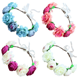 $enCountryForm.capitalKeyWord Australia - Europe and the United States popular big red rose bride wreath headband seaside tourism beautiful simulation flower hair band beach headband