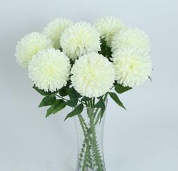 $enCountryForm.capitalKeyWord Australia - Hot sales 50cm 19.6inch Simulated Chrysanthemum Flower diameter 12CM Silk Flowers Home Wedding Decoration 5 color selection no vase