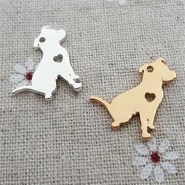 Gold Bull Pendant Australia - 20pcs 16*21MM Metal 18K gold silver Bullmastiff bull dog mastiff charms pet animal pendant for bracelet necklace earrings jewelry making Diy