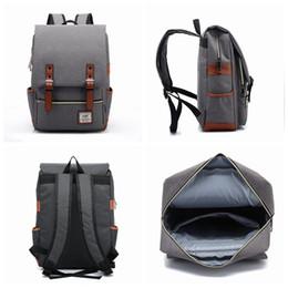 Plain hunting backPacks online shopping - 21 Colors Men Women Outdoor Sport Travel Bag Pack Fashion Vintage Canvas Backpack Shoulder Student School Rucksack ZZA964