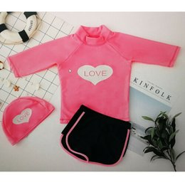 Wholesale Baby Kid Girl Boy Sun Protective Swimwear Rash Guard Costume Bathing Suit Set Baby Swimwear Two Piece Suits