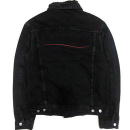 venda por atacado Famoso Mens Denim Jacket Homens Mulheres Alta Qualidade Casual Coats Preto Azul Moda Mens Stylist Jacket Casacos tamanho M-XXL
