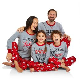 boys matching christmas outfits Australia - Family Christmas Plus Size 2XL Outfits Pajamas Set Striped Clothes Parent-Child Set Kids Girls Boy Matching Sleepwear Suit F2