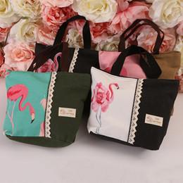 Cute Canvas Handbags Australia - Cheap Fashion M475 Cartoon Shoulder Bag For Women Cute Animal Flamingo Canvas Handbag Summer Beach Bag Ladies Bag Wholesale