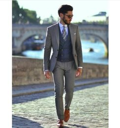 $enCountryForm.capitalKeyWord Australia - Fashionable Two Buttons Groomsmen Notch Lapel Groom Tuxedos Men Suits Wedding Prom Dinner Best Man Blazer(Jacket+Pants+Tie+Vest) A128