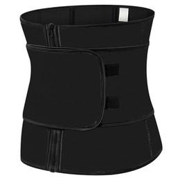 eed295a0f30 Plus Size Abdominal Belt High Compression Zipper Latex Waist Cincher Corset  Underbust Body Sweat Waist Trainer
