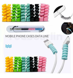 $enCountryForm.capitalKeyWord NZ - Spiral Cable protector Data Line Silicone Bobbin winder Protective For iphone Android USB Charging earphone Case Cover