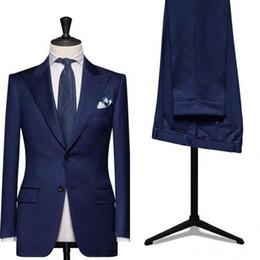 Bridal Suits Australia - Custom men slim fit Groom Tuxedo suit wedding Groomsmen Men's Suits Bridal Ball Gown (Jacket + Pants) C18122501