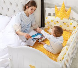 Solid Baby Bedding Australia - Baby Bed Solid Wood European Baby Cradle with Roller Multifunctional Stitching to Increase Baby Bed of BB Bed