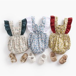 Jumpsuit Babies Australia - Baby Bodysuit Summer Little Flowers Newborn Ruffle Cotton Outfit Jumpsuits Kids Girls Clothes Infant Toddler 0-3 Years Q190520