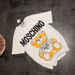 Wholesale 19ss Paris Blouse leisure moschinos Tee shirt Hand drawn bear Breathable short Sleeve Tshirt Men Women blouses Casual Outdoor Designer