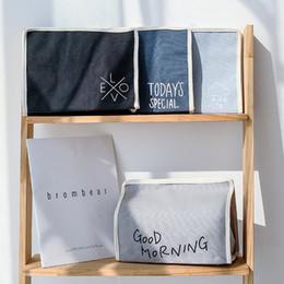 Types Towels NZ - Multi-purpose tissue storage box cotton linen art green paper towel storage bag bags