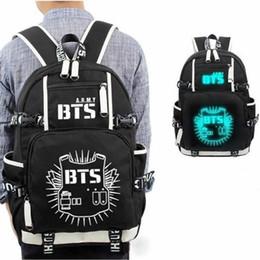 7a2dc86efa54  NEWTALL  KPOP Bangtan Boys Luminous Backpack BTS Shoulder Book Bag Jung  Kook Suga V Jimin Fans School Travel Bag 17061013
