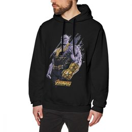 Purple Hoodies NZ - Thanos Hoodie Thanos Shattered Graphic Hoodies Casual  Purple Pullover Hoodie XXXL Long 8c277e863