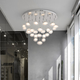 $enCountryForm.capitalKeyWord Australia - Modern simplicity LED chandelier ceiling Nordic glass ball hanging lights bedroom lighting fixtures living room pendant lamps