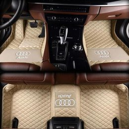 Audi A8l Australia - Suitable for Audi A8   A8L  Five-seater car  2006-2010 stitching car mat non-slip interior waterproof leather environmentally friendly mat