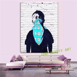 $enCountryForm.capitalKeyWord Australia - Banksy Graffiti Art Masked Boy,1 Pieces Home Decor HD Printed Modern Art Painting on Canvas (Unframed Framed)