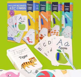 Alphabetic numeric writing cognitive card for children under 14 years old can repeatedly erase children's toys from set up tools suppliers