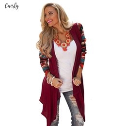 Top condiTion online shopping - Cardigan Women Sweater Aztec Long Sleeve Stripe Tops Casual Long Cardigans Fashion Air Conditioning Asymmetrical Shirt