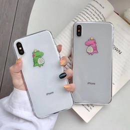 a90f139115 Cute Cartoon Crocodile Phone Cases For iPhone XR XS Max X XS 6 6S 7 8 Plus  Soft TPU Couple Phone Back Cover Case