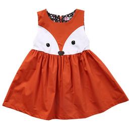 Hot 1-5Y Casual Baby Girls Toddler Kids Cute Fox Dress Sleeveless Formal  Party Wedding Tutu Dresses a77b95fb955b
