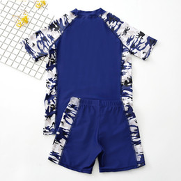 192145c1dc summer new boy swimwear camouflage printing kids boy swimsuit beach board boy  swim shirt trunk bikinis set suit bathing