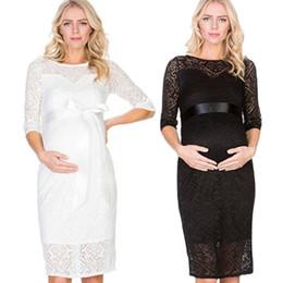 $enCountryForm.capitalKeyWord NZ - Puseky Lace Maternity Dresses Half Sleeve Dress Round Collar Women Two Layers Evening Party Popular 34yk F1