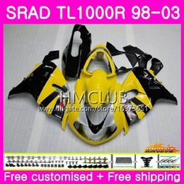 fairings srad Australia - Injection For SUZUKI SRAD TL 1000 R TL1000R 98 99 00 01 02 03 16HM.7 TL1000 R TL 1000R 1998 1999 2000 2001 2002 2003 Stock yellow Fairing