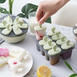 Utensílios de cozinha definir a bandeja de gelo de plástico criativo DIY picolé molde verão caixa de creme de gelo home picolé de gelo molde em Promoção