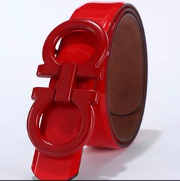 $enCountryForm.capitalKeyWord UK - Summer Fashion Women Luxury Belts Female Patent Leather Designer Slim Dress Belt Ladies Rose gold Buckle Waist Belts