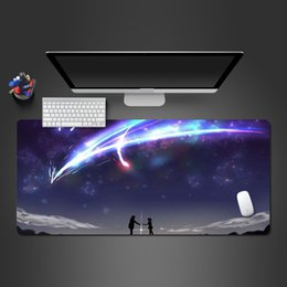 GaminG computers best online shopping - Your Name Is Anime Mousepad High Quality Non slip PC Gamer Computer Wot Big Mouse Pad Best Personality Padmouse Gaming Gifts
