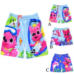 Wholesale 2019 Boys Designer Swim Trunks Shark Board Shorts Traje de baño de dibujos animados 3 diseño pantalones cortos de playa Shark Baby Swimming Pants C31