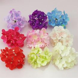 $enCountryForm.capitalKeyWord NZ - NEW 50 Pcs Lot Artificial Hydrangea Silk Flowers Heads Decoration for Wedding Party Banquet Home Decorative Flowers C18112601