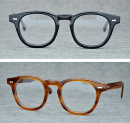 f948ed2d66 Brand Eyeglasses Frames Round Myopia Optical Glasses Retro Reading Glasses  Frames Men Women Moscot Lemtosh Spectacle Frames with Clear Lens