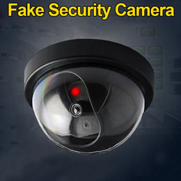 Dummy surveillance Dome camera online shopping - Simulated Surveillance Camera Fake Home Dome Dummy Camera with Flash red LED Light Security camera indoor outdoor