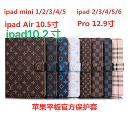 "For ipad pro 12.9  Air3 pro10.5 10.2"" ipad2 3 4 5 6  mini1 2 3 4 Designer Luxury Classic Vintage Leather Holder ipad Case mini5 mini4 A11 on Sale"