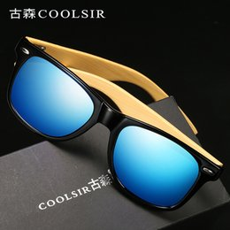 Wholesale Manufacturers Men and Women Polarized Sunglasses Nail Models Polarized Driving Sunglasses Bamboo Legs Glasses