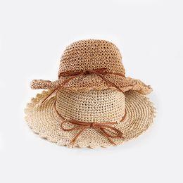 Sun Blocks Australia - Ladies straw hat summer small fresh big eaves hat outdoor sun block sun hat Korean version belt bow sun