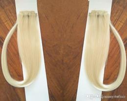 """Clip Human Hair Extensions Remy 24 Australia - Indian remy hair Clip in on Human Hair Extension 14""""-24"""" 7pcs set 70g Platinum Blonde Color 60#"""