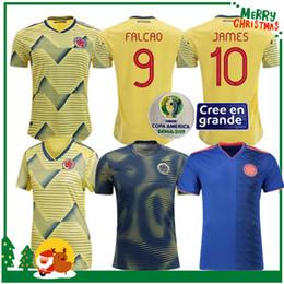 James colombia soccer Jersey online shopping - 19 Colombia JAMES FALCAO VALDERRAMA Soccer Jersey Home away man woman kids kit Football sports Short Shirt