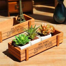 $enCountryForm.capitalKeyWord Australia - Small Rectangle Wooden Pot Wood Succulent Pots Flower Planter Tray Balcony Meat Plant Garden Supplies bb157-164 2017122807