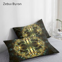 $enCountryForm.capitalKeyWord Australia - 3D HD Pillow Case Pillowcase Custom 50x70 50x75 50x80 70x70,Decorative Pillow Cover,Magic dream Green Bedding Drop Ship
