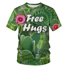 T Shirt Digital Printing Sport NZ - New tree digital printing Slim round neck sports couple shirt fashion sleeve short sleeve T-shirt men's clothing