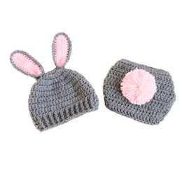 Novelty & Special Use Hard-Working Baby Boys Girl Rabbit Bunny Ears Hat Toddler Crochet Knitted Earflap Hat Warm Cap Cosplay Rabbit Bunny Hat Child Cosplay Gift Latest Fashion