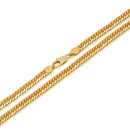 24k indian gold necklaces chain Canada - (308N) ( 60 cm x 6 mm ) 24 inch hiphop Cuban Chain Necklaces for Men 24k Pure Gold Plated Fashion Jewelry Nickel Free