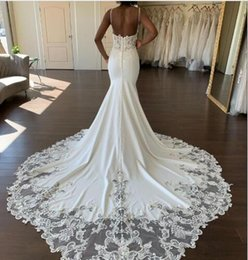 wedding dresses beach styles Australia - 2020 Elegant Country Style Wedding Dresses V Neck White Applique Lace Long Sleeved Beach Bridal Wedding Gowns