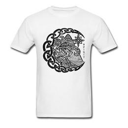 $enCountryForm.capitalKeyWord Australia - 2018 Polar Bear Spirit Tribal Tattoo T-shirt Men Black White Art Pattern Design Cotton Top T Shirt Custom For