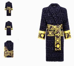 $enCountryForm.capitalKeyWord Australia - Luxury Baroque Jacquard Bathrobes Medusa Designer Print Robes 100% Cotton Matching Same Design Bath Towels Sets Royal Home Decors