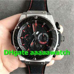 V6 Men Watch Australia - V6 Luxury 48mm Watch 703.ZM.1123.NR.FMO10 Watch 7750 Automatic Chronograph Movement 28800vph Stainless Steel Case Gummy Strap 4104 Men Watch